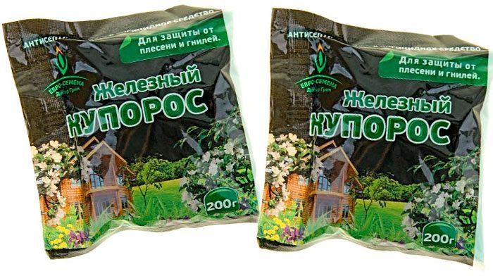 Обробка саду залізним купоросом навесні і восени